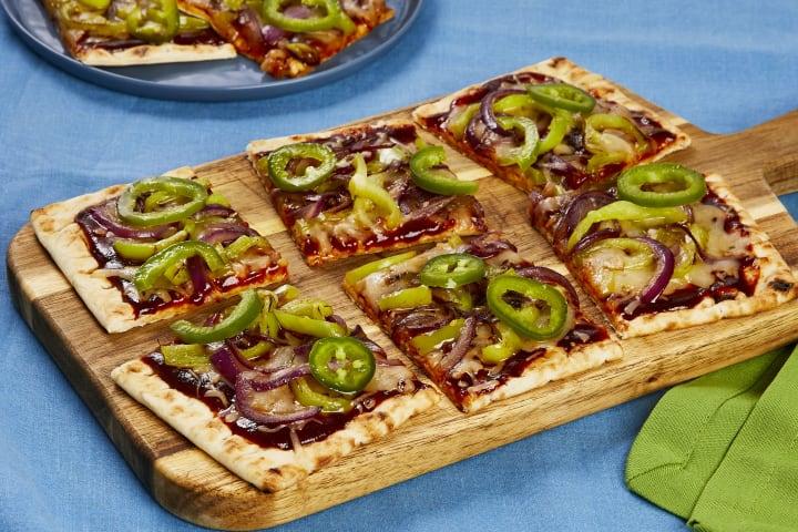 BBQ Pepper Jack pizza Flatbreads recipe