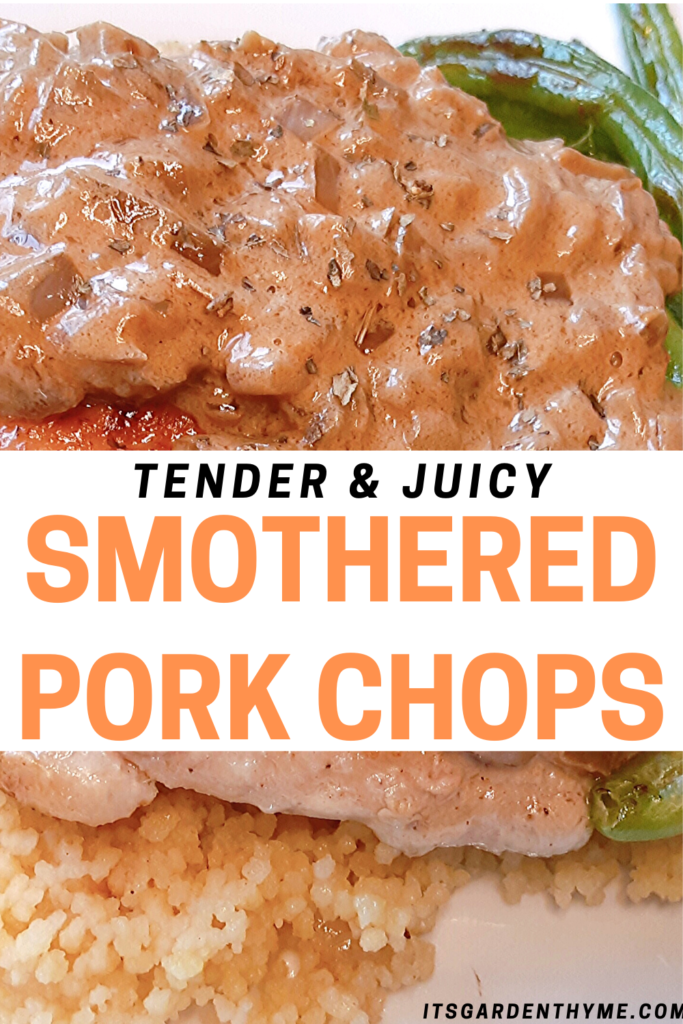 Onion Smothered juicy pork chops