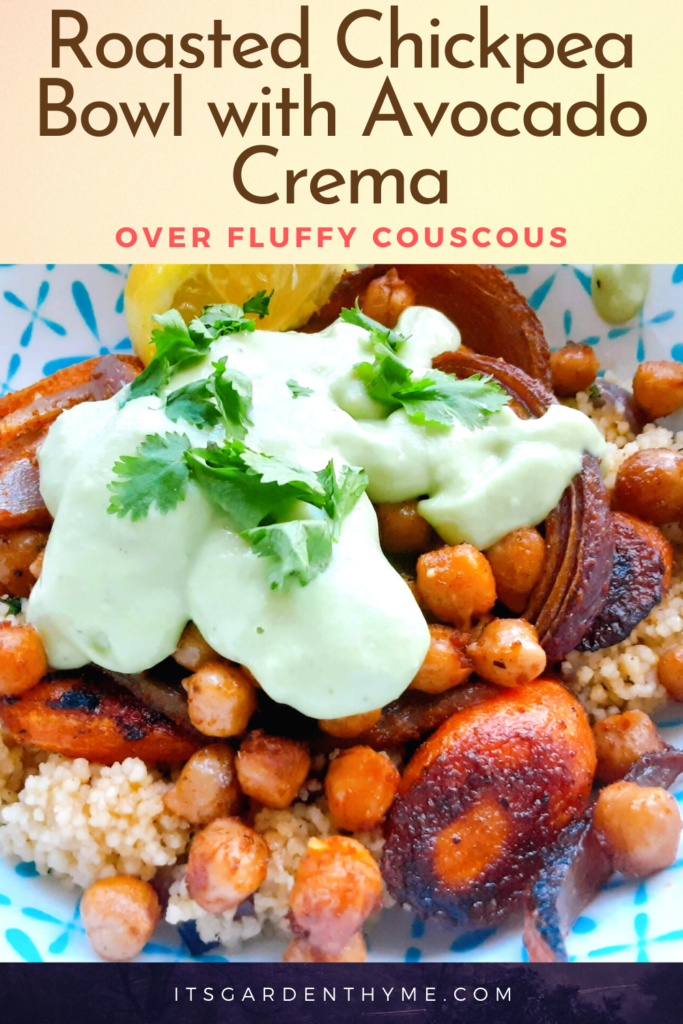 Roasted Chickpea Bowl with Avocado
