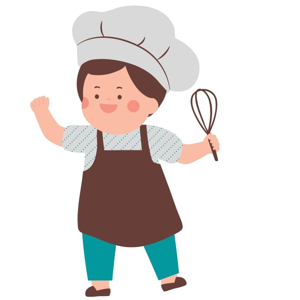 chef with all the recipes